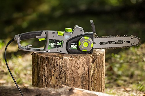 Earthwise CVPS43010 7-Amp 10-Inch Convetible 2-in-1 Polesaw Chainsaw