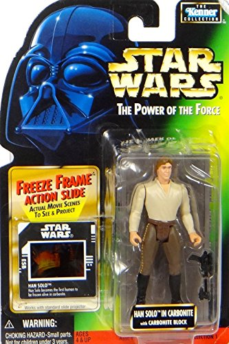 Star Wars The Power Of The Force Han Solo In Carbonite With Carbonite Block Freeze Frame Action Slide 1997 Hasbro