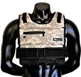 Strength sport systems Weight Vest (Short) - Premium Quality - Best for Cross fit Training - Running - Jogging - Fully Adjustable (S pro Weight Vest) (Elite II - Camouflage, 70lbs(Iron bar Set))