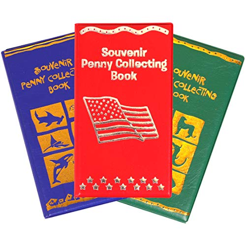 Kangaroo's Penny Holder Book; Souvenir Penny Collecting Books (3-Pack) Museum, Zoo Theme and Sea Life Aquatic, 3 Per Order (Disney Penny Collection Book)