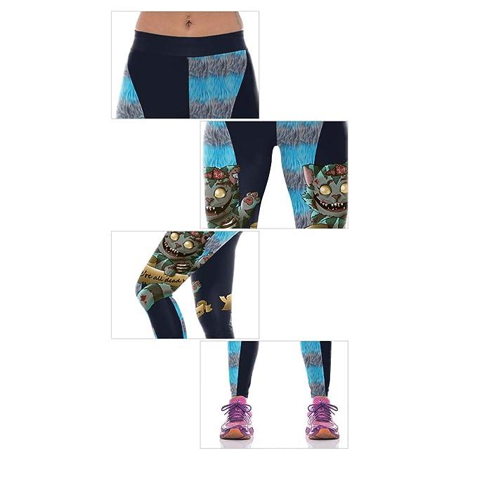 HaoLiao Pantalones de Yoga de Las Mujeres, impresión Digital ...