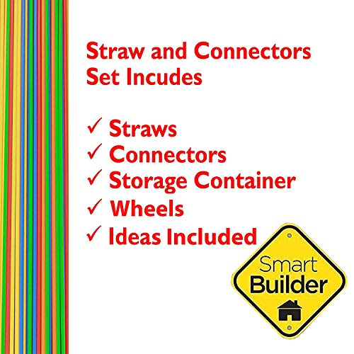 Smart Builder Straw Builder Set 400 Piece STEM Construction Engineering Toy for Boys and Girls Educational Motor-Skill Building Gift for Kids