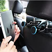 Headrest Mount for Tablet Car Back Seat Universal Magnetic Phone Mount Holder Perfect Backseat Entertainment, Fully Adjustable Mobile Device Holder for Smartphone, iphone ,ipad ,eReaders (Pack of 2 )