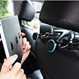 Image of Tablet Car Mount ,Back Seat Headrest Universal Magnetic Car Phone Mount, Perfect Backseat Entertainment, Fully Adjustable Mobile Device Holder for Smartphone, iphone ,ipad ,eReaders (Pack of 2 )