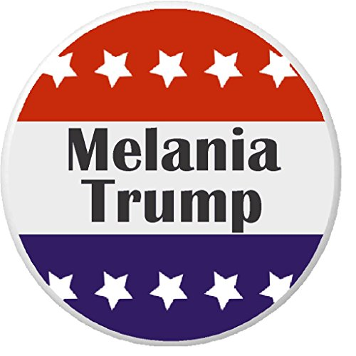 "Melania Trump Red White Blue Stars 2.25"" Keychain Vote First Lady"