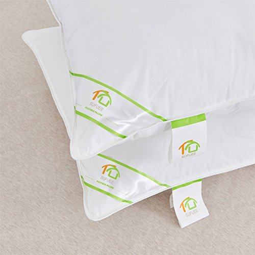 """DUO-V HOME King Size Pillows Set of 2 Pack,100% Cotton Cover Down Alternative Comfortable Hypoallergenic Pillow (20""""x36"""")"""
