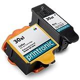 2 Pack 30XL Combo Remanufactured Ink Cartridge for Kodak ESP 3.2 C310 C315 2170 Hero 3.1 5.1, Office Central
