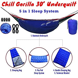DMGF Camping Sleeping Bag Hammock Lightweight Portable Waterproof Comfort With Compression Sack Great For Traveling Camping Hiking Outdoor Activities