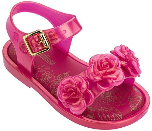 Mini Melissa Baby Girl's Mar Sandal III BB (Toddler/Little Kid) Pink Pearl 9 M US Toddler ()