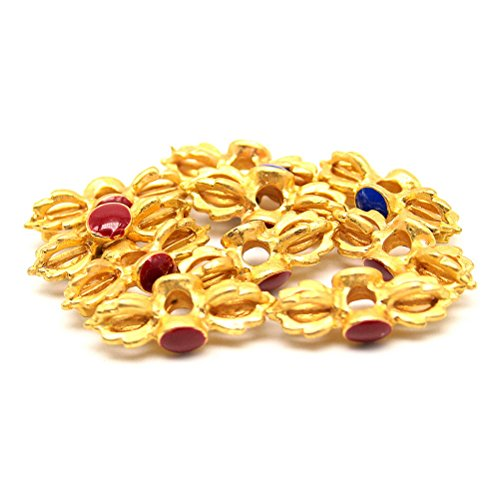 Beautiful Bead 10 pcs 21mm Bell Shaped Religious Jewelry Findings for Buddha Figural Bracelets or Necklaces (Bell Figural)