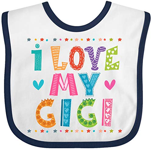 Inktastic I Love My Gigi Outfit for Babies Baby Bib White/Navy 394c4 from inktastic