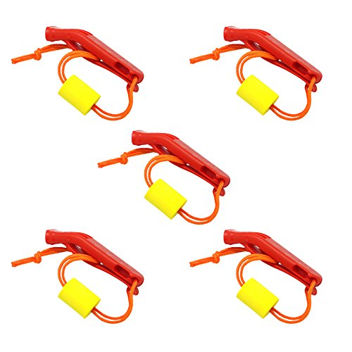 SAMSFX Safety Float Whistle with Lanyard Floating for Marine Boating Camping Hiking Hunting Fishing Survival Rescue Signaling
