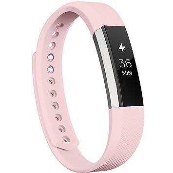 BZLine®Bande de poignet de remplacement + film de protection pour Fitbit Alta HR Fermoir
