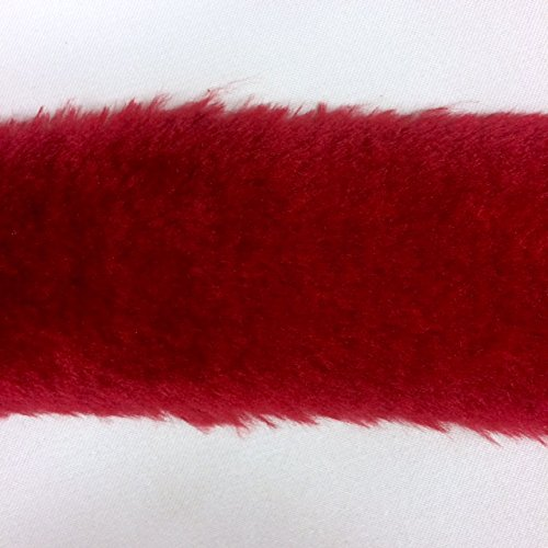 8 Inch FAUX FUR Trim Ribbon in Red Price Per 2 Yards TOP TRIMMING