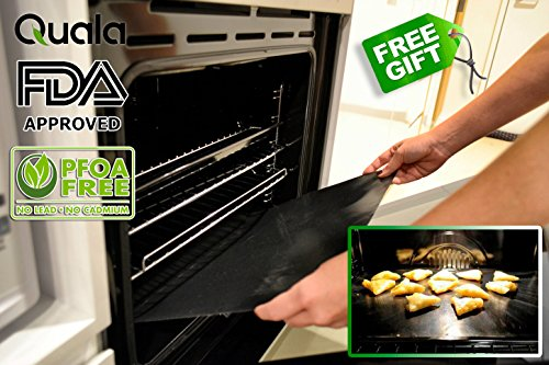 Quala Gas Range Protectors 8 Pack Free Oven Liner