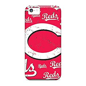 Protective Hard Phone Cover For Iphone 5c With Support Your Personal Customized Beautiful Cincinnati Reds Skin LavernaCooney