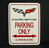 C6 2005-2013 Corvette Parking Only Sign