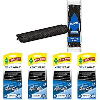 LITTLETREESCar Air Freshener | Vent Wrap Provides a Long-Lasting Scent, Slip on Vent Blade | New Car Scent, 4-Packs (4 Count)