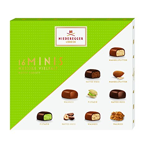 Niederegger Minis Nutty Assortment Gift Box 112g (16 Mini Chocolates)