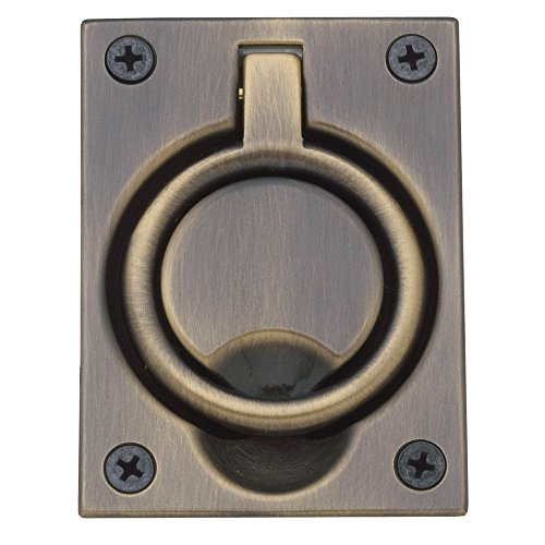 (Baldwin 0395050 Flush Ring Pull, Antique Brass)