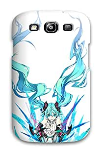Hot Snap-on Vocaloid Hatsune Mikubodysuits Aqua Aquamiwa Shirow Miku Append White Hard Cover Case/ Protective Case For Galaxy S3
