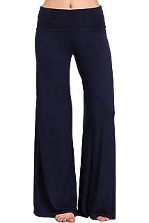 cda836bf662b HEYHUN Womens Casual Tie Dye Solid Wide Leg Bottom Boho Hippie Lounge  Palazzo Pants S-