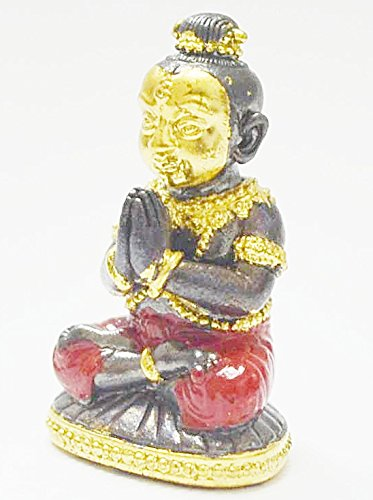 Lucky Amulets Kumaantong Na-na-thong Gold Face Krooba Subin Sumedaso Tiny Guman Kuman Thong Boy Magic Spirit Thai Wealth Amulet Lucky Gamble Hot Gift