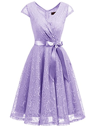 lavender and lace bridesmaid dresses - 3