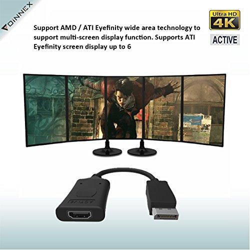 Active DisplayPort 1 2 to HDMI Adapter (4K UHD),FOINNEX DP