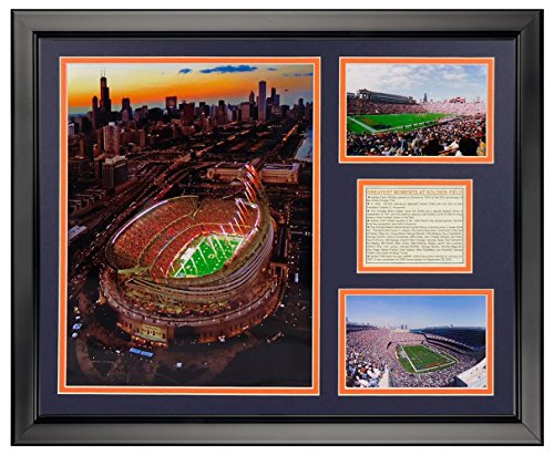 (Legends Never Die Chicago Bears New Soldier Field Framed Photo Collage, 16