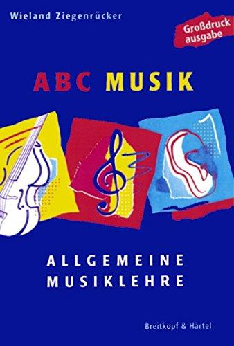 ABC Musik - Allgemeine Musiklehre - Großdruckausgabe (BV 398 )