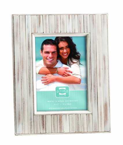 PRINZ 5 by 7-Inch Sanibel Whitewash Wood Frame - 5-inch by 7-inch frame Rubber wood frame Hand distressed finishing - picture-frames, bedroom-decor, bedroom - 51ZdgOs1MTL -