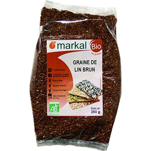 Semillas de Lino marrón biológicas - Semillas de Linaza marrón ecológicas (orgánica) | 250g