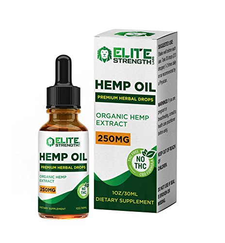 Hemp Oil Drops :: Improved Formula :: Promotes Relaxation and a Sense of Calm:: Encourages Cardiovascular Health:: 30 Day Supply - 30ML Bottle:: Elite Strength Labs by Elite Strength Labs