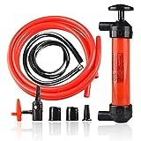 Siphon Gas Liquid Air Pump -Zone Tech Hand Gas Liquid Air Pump- Fluid Fuel Oil Gasoline Water-Travel Emergency Manual Vehicle Car Tool