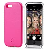 iPhone 6S Plus Case, Elftear LED Light Up Selfie Cell Phone Case Luminous Back Cover Skin for Apple iPhone 6S Plus iPhone 6 Plus 5.5 Inch (Rose)