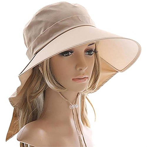 Weshiny Women's Summer Adjustable Wide Brim Sun Hat Cotton UPF 50+ Sun...