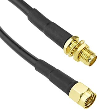 Cablematic - Cable coaxial HDF200 SMA-macho a SMA-hembra 1m