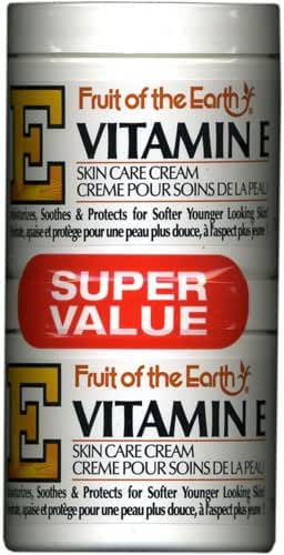 Fruit Of The Earth Bogo Cream Vitamin-E 4 Ounce Jar (113g)
