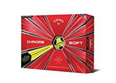 Chrome Soft Truvis Golf Balls combine Tour-proven performance with unparalleled feel and exceptional mis-hit forgiveness. Everything about the ball that changed the ball is better because we've innovated at every layer, starting with our grou...