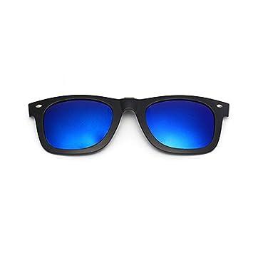 dc67ad9d07 Aptoco Mirror Polarized Clip-on Flip up Plastic Sunglasses Lenses Cool Dark  Blue Clip on