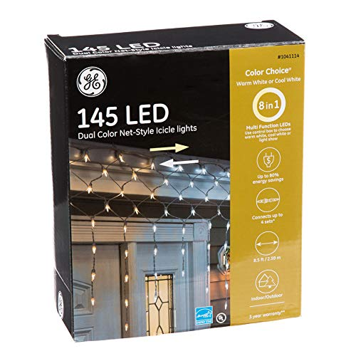 Ge Led Cool White Icicle Lights in US - 1