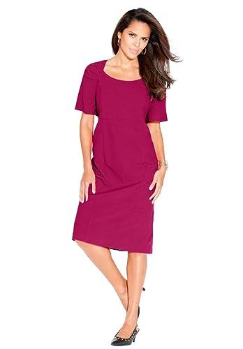 Roamans Women's Plus Size Sheath Dress