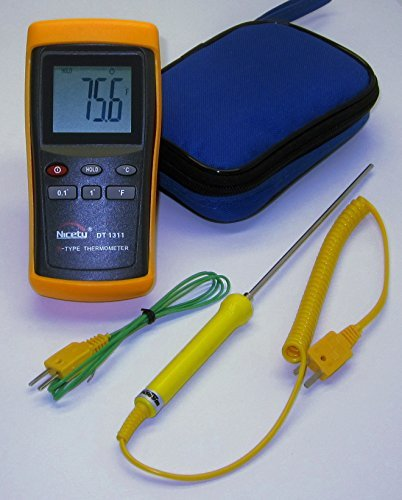 Professional High Range Digital K-type Thermocouple Thermometer DT1311 w. Stainless Steel Probe ()