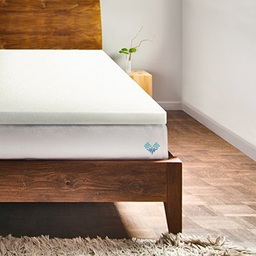 PharMeDoc Memory Foam Mattress Topper - 2 Inch Thick Bed Topper