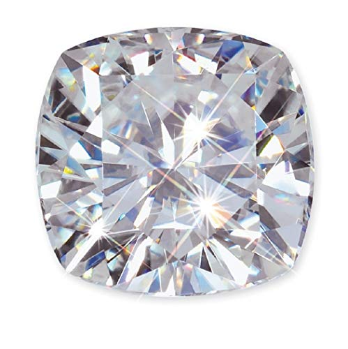 JEWELERYIUM 2.00CT, 8.00MM Real Colorless Moissanite Diamond, VVS1 Clarity, Cushion Cut Brilliant Gemstone for Jewelry Making, Ring, Earrings, Necklaces, Watches from JEWELERYIUM