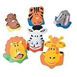 12 Foam Zoo Animal Sun Visors (4-Pack)