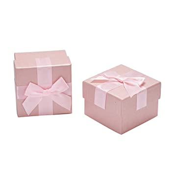 Amazon Com Nbeads 20pcs Pink Suqare Cardboard Gift Boxes With