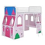 DHP Imagination Castle Junior Loft Bed, Pink/Purple
