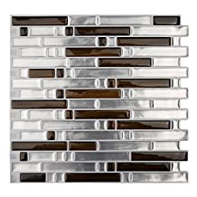 "Magictiles 10.65"" x 10"" Peel and Stick Kitchen Backsplash Wall Tile, 10 Tiles"